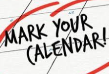 Image of a calendar with the words MARK YOUR CALENDAR! written on it and circled in red.