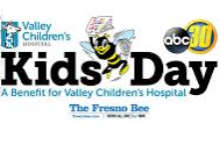 Image of Valley Children's Kid's Day Advertisement with the Valley Children's Logo and its sponsors.