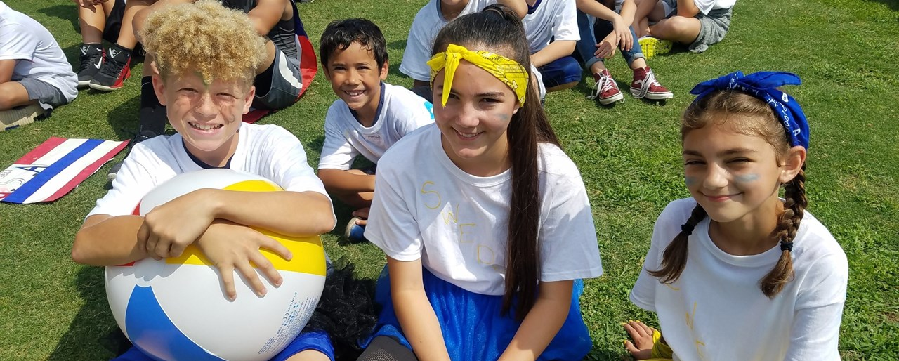 Photo of students participating in Olympic Day at FW