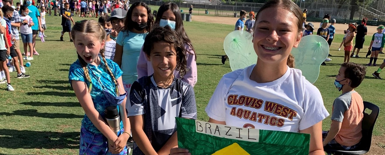 Image of FW Olympic Day events with students from team Brazil.